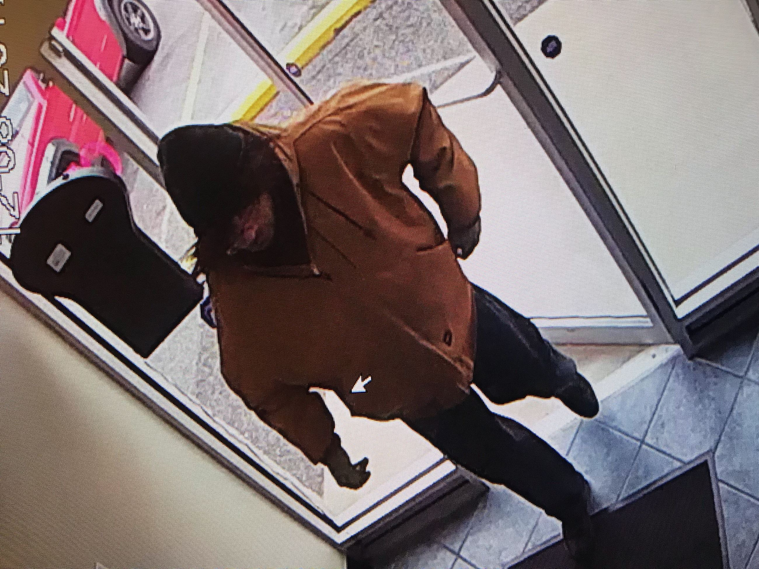 A picture of the robbery suspect from Friday, Dec. 8, 2017.