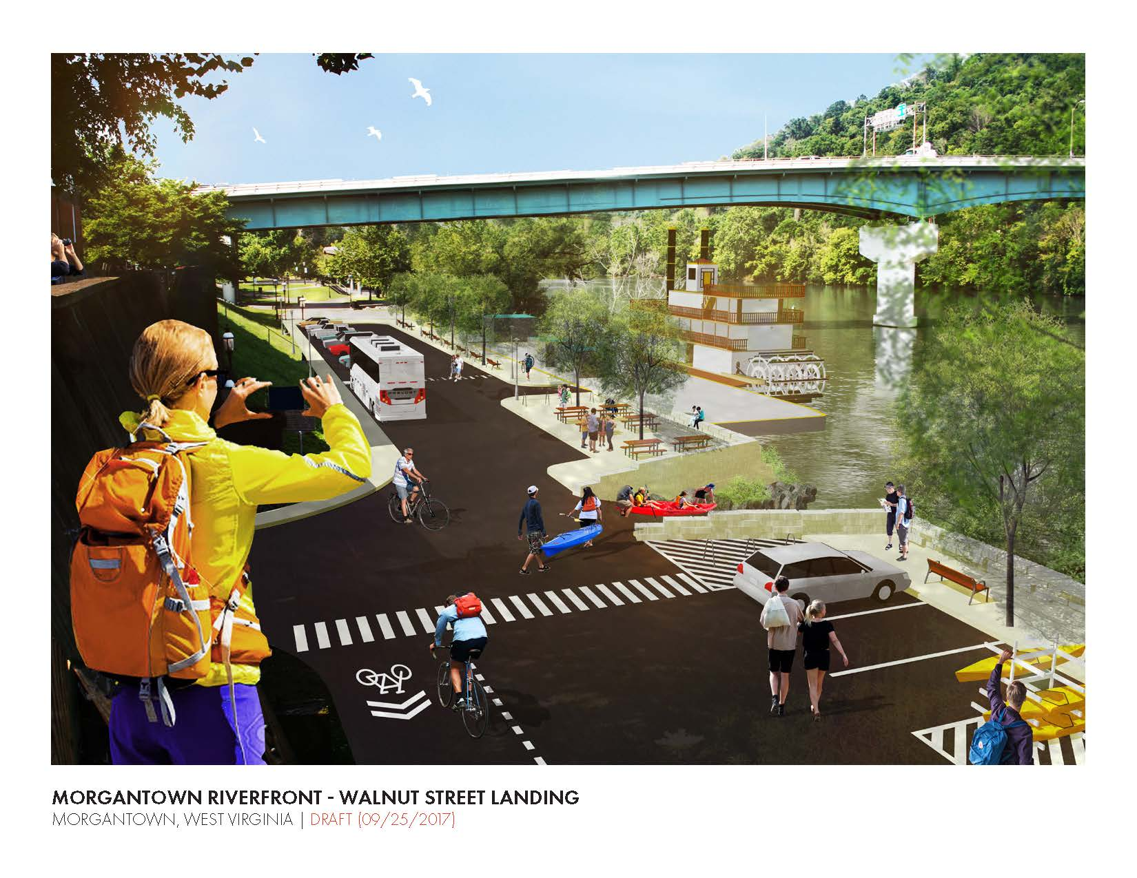 A Rendering of the Morgantown Riverfront Concept.