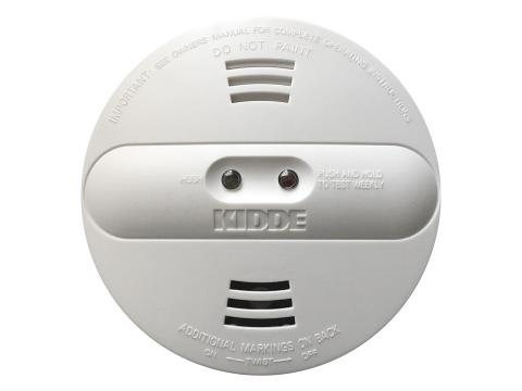 A picture of the recalled Kidde dual sensor smoke alarm.