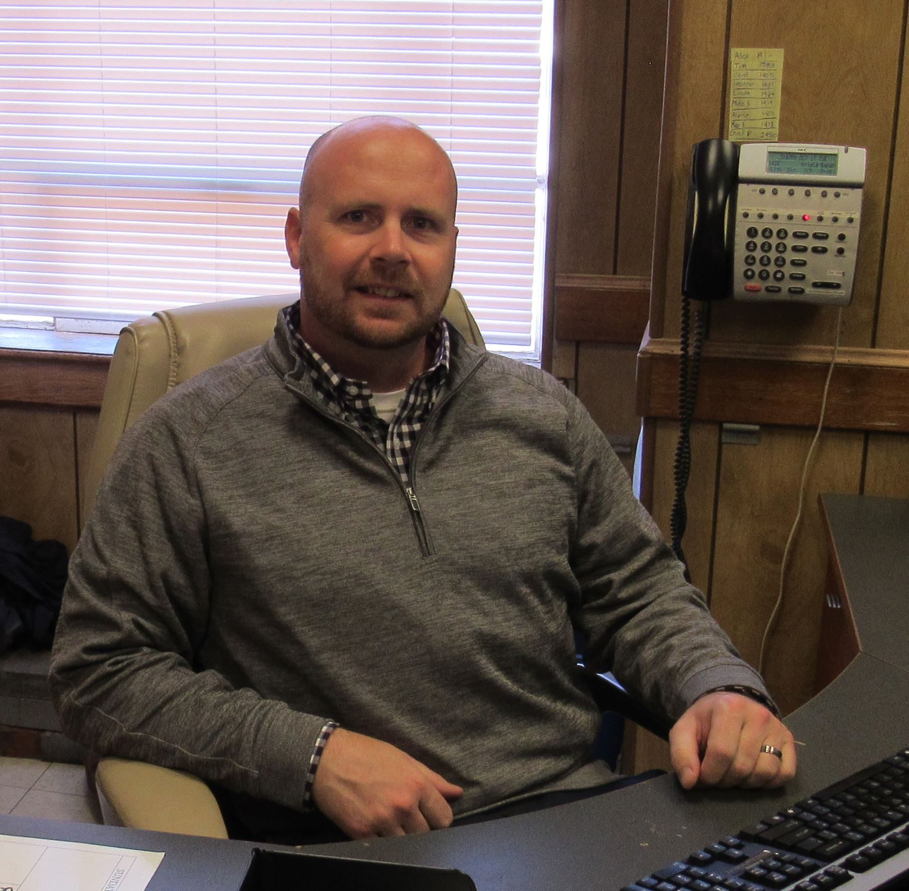 A picture of Communications Manager Andrew Stacy.