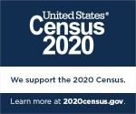A web badge showing that the City of Morgantown supports the 2020 Census.