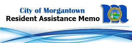 City of Morgantown Resident Assistance Memo